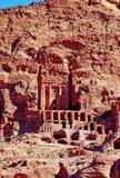 Gravvalv av Petra, JORDANIEN Royaltyfri Fotografi