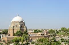 Gravvalv av schah Rukn-e-Alam i Multan Pakistan arkivbild