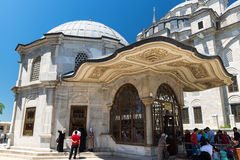 Gravvalv av sultan Mehmed besegraren i Istanbul, Turkiet Arkivfoton