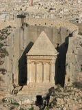 Gravvalv av Zechariah, Jerusalem, Israel arkivbild