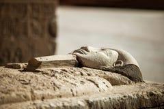 Gravvalv för faraostensarkofag royaltyfria bilder