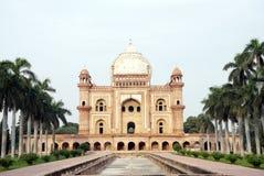 Gravvalv för Safdarjung ` s, New Delhi Arkivfoton