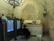 Gravvalv för konung Davids, Mount Zion, Jerusalem Royaltyfria Foton