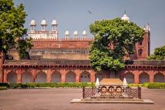 Gravvalv i det Agra fortet - Agra, Indien Royaltyfri Bild