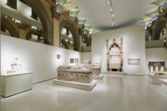 Gravvalv på den medeltida gotiska konstkorridoren Royaltyfri Bild