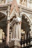 Gravvalvet av Cansignorio, en av fem gotiska Scaliger gravvalv eller Arche Scaligeri, i Verona Royaltyfri Fotografi