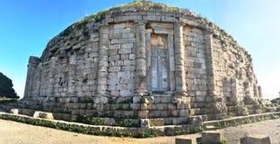 Gravvalvet av den gamla kristna pyramiden Momentpyramider är strukturer som karakteriserade flera cul royaltyfria foton