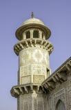 Gravvalvet av Itimad-ud-Daulah eller behandla som ett barn Taj i Agra, Indien Fotografering för Bildbyråer