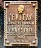 Gravvalvet av Maria Eva Duarte de Peron Arkivbilder