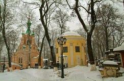 Gravvalvet nära den ortodoxa kyrkan Fotografering för Bildbyråer
