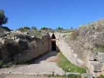Gravvalvingång, Mycenae, Grekland royaltyfri fotografi