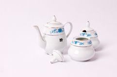 Gravy boat of chinese food Royalty Free Stock Images