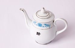 Gravy boat of chinese food Stock Images