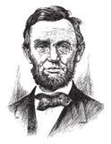 Gravyr av Abraham Lincoln Arkivbild