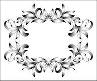 Gravyr för tappninggränsram med den retro prydnadmodellen i dekorativ design för antik blom- stil vektor illustrationer
