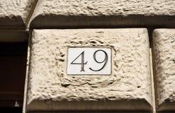 Grawerująca stara budynek liczba fotografia stock