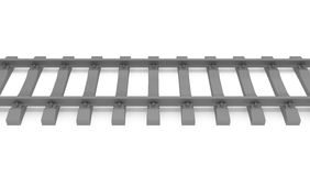 Gray 3d rails horizontal Royalty Free Stock Images