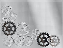 Gray abstract background. Gray background with the gears Royalty Free Illustration