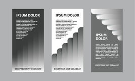 Gray abstract business template for flyer, brochure, presentation. A set of financial templates for a banner Royalty Free Stock Photos