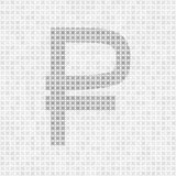 Gray abstract grid vector rouble symbol Royalty Free Stock Image