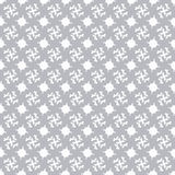 Gray abstract objects on a white background in classical style seamless pattern vector illustration Royalty Free Stock Photo