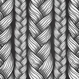 Gray abstract seamless hair pattern Royalty Free Stock Image