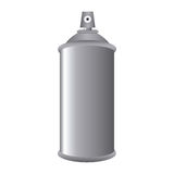 Gray Aerosol Spray Metal 3D flaskcan Stock Illustrationer