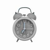 Gray alarm clock Royalty Free Stock Photo