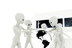 Gray aliens Royalty Free Stock Photo