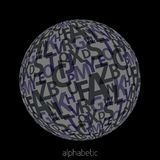 Gray alphabetic sphere Stock Image