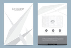 Gray Annual report brochure flyer design template. Vector lines style, Leaflet cover presentation abstract technology background, layout in A4 size. Vector Royalty Free Stock Images