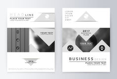 Gray annual report design of the first and last page Stock Photo