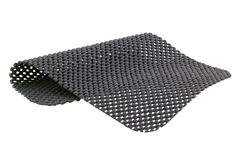 Gray anti slip mat isolated on white. A piece of Gray anti slip mat isolated on white background royalty free stock images