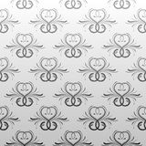Gray antique seamless vine wallpaper vector illustration