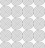 Gray Archimedean spirals Stock Image