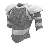 Gray armor stylized for cartoon style on isolated white background. 3d illustration vector illustration