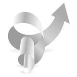 Gray Arrows Ring Rotating illustration libre de droits