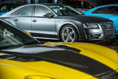 Gray Audi S8 tuning Royalty Free Stock Images