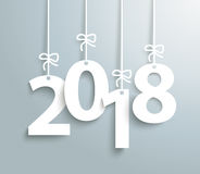 2018 Gray Background. 2018 on the gray background Royalty Free Stock Photo