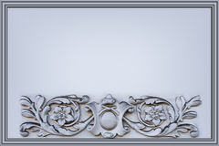 Gray background with a bas-relief Royalty Free Stock Photo