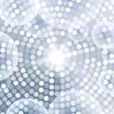 Gray Background bleu circulaire abstrait Images libres de droits
