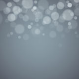 Gray background with defocused lights Royalty Free Stock Photography