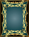 Gray background frame with gold(en) Stock Image
