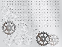 Gray background with the gears Royalty Free Stock Images