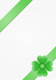 Gray background with green stripes and a flower Royalty Free Stock Photography