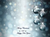 Gray background, Holiday, merry christmas with garlands Royalty Free Stock Image