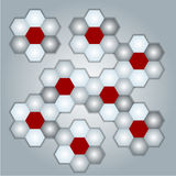 Gray background with honeycombs Stock Image