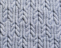 Gray background knitted fabric Stock Photos