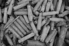 Gray background of old casings royalty free stock images