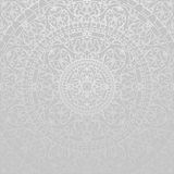 Gray background with oriental decorations stock illustration